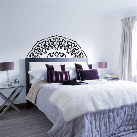 headboard decal headboard wall decal bedroom headboard decal half mandala