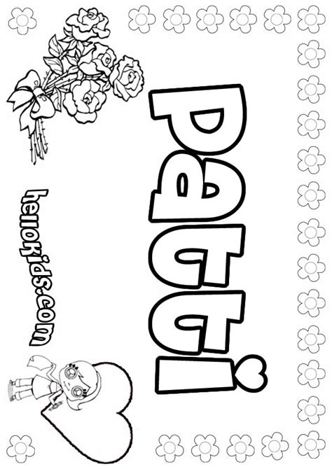 coloring pages for girl names girls name coloring pages patti girly name to color