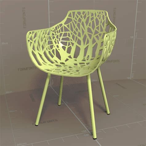 Forest Armchair by Forest Armchair 3d Model Formfonts 3d Models Textures