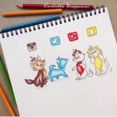 viber doodle ideas socialmedia cats they are instagram