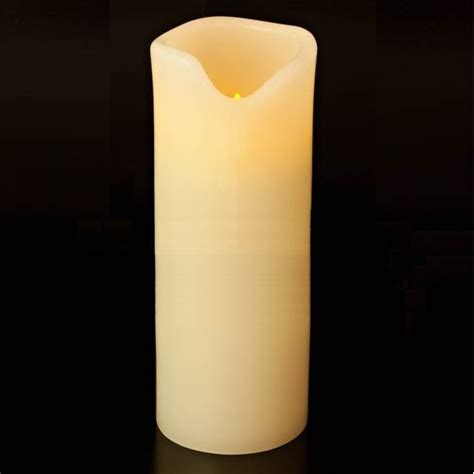 battery operated candles large led real wax 9 pillar battery operated