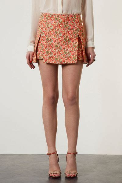Origami Skirts - topshop origami skirt in floral multi lyst
