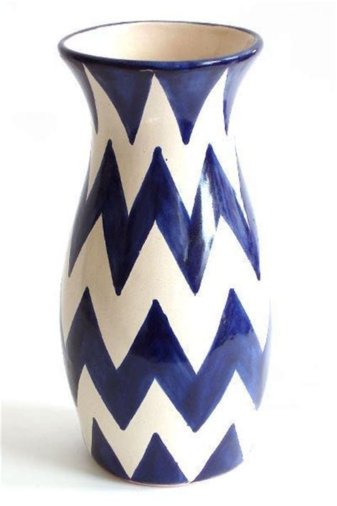 Navy Blue And White Vases Navy And White Chevron Vase