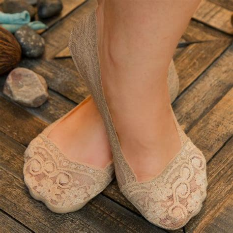 sock boots without heel and fancy lace peep socks invisible socks medias