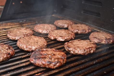 grilled hamburgers teaching my boys to cook