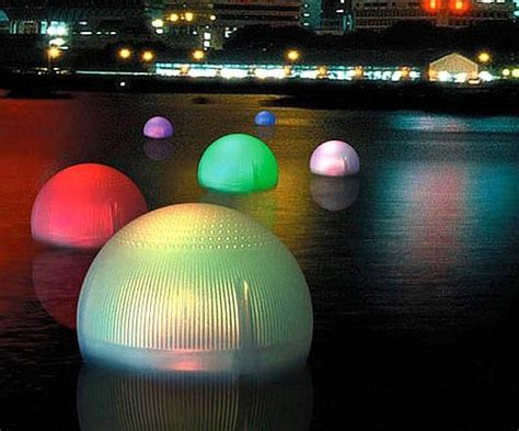 solar light balls color changing solar floating balls will rock your garden