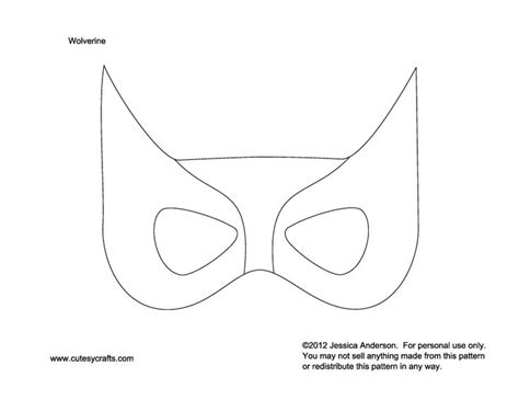 wolverine mask to kids patterns moldes pinterest
