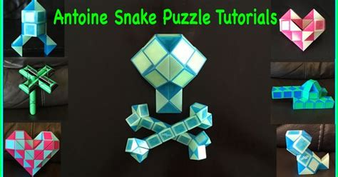 tutorial rubik snake indonesia pin by antoine snake puzzle tutorials on smiggle snake