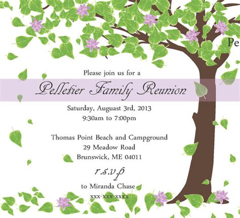 family invitations family reunion invitation