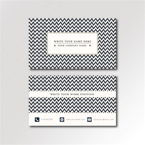 Zig Zag Card Template by Zig Zag Pattern Business Card Vector Free
