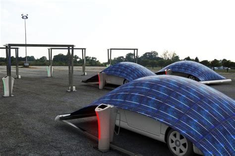 Space Craft Smallest Solar Powered Racing Car Green Murah v tent is a solar powered ev charger that protects your car inhabitat green design