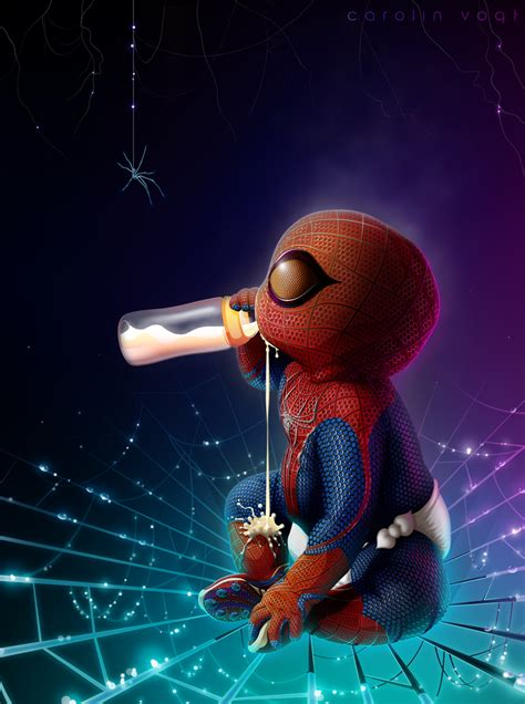 Komik Digital Marvel Iron baby spider spider baby beautiful