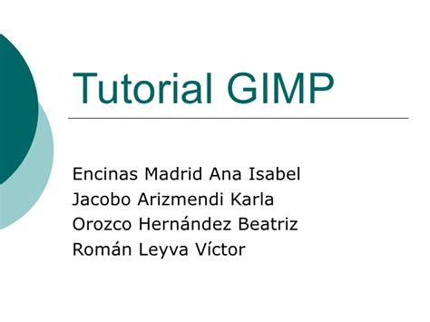 gimp tutorial powerpoint tutorial gimp