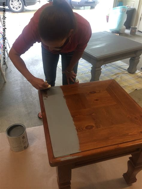 sanding a dresser to stain diy table to ottoman and how to paint furniture without
