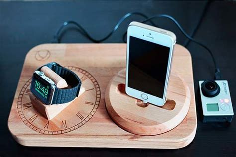 handmade wooden charging station  apple   iphone gadgetsin