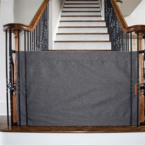 Stair Gate For Banister 17 Best Ideas About Retractable Stair Gate On Pinterest
