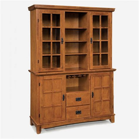 Small China Cabinets And Hutches by Shop Home Styles Arts And Crafts Cottage Oak China Cabinet