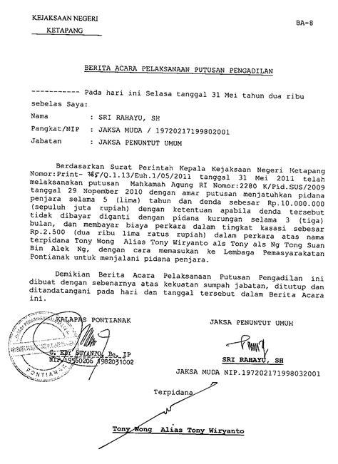 Berita Acara Kronologi by Berita Acara Tw S