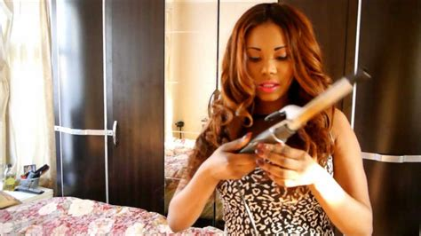 how to style brazilian hair how to curl your brazilian weave with a curling iron youtube