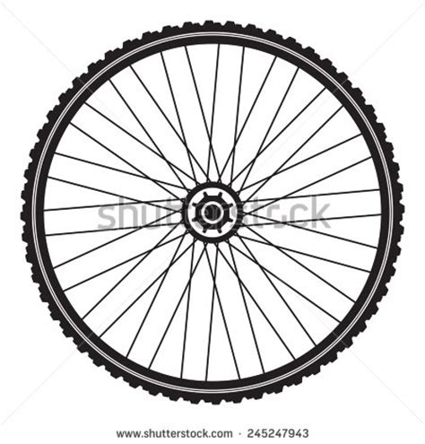 Bicycle Wheel Outline by Bicycle Tires Clipart Clipground