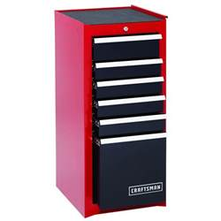 tool box end cabinet craftsman 6 drawer heavy duty bearing side cabinet