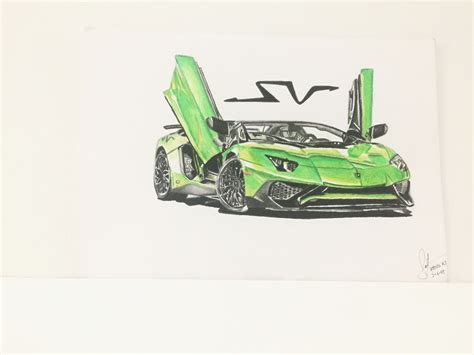 lamborghini aventador sv roadster drawing my drawing of the lamborghini aventador sv roadster tell me what do you think about my drawing
