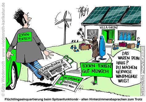 grüne versicherungskarte deutschland karikatur satire politik wirtschaft zeichnung