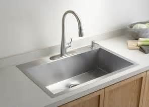 single bowl kohler kitchen sink contemporary kitchen