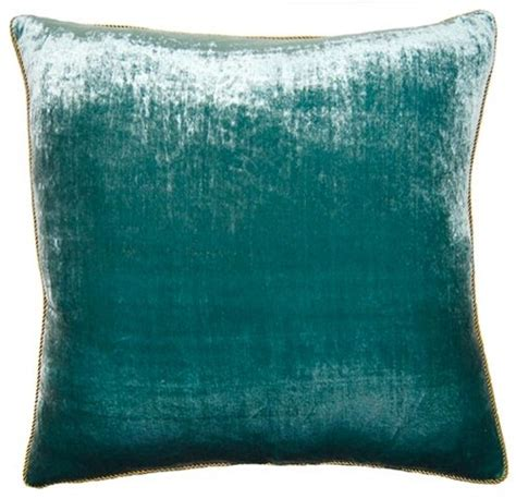 Kitchen Rugs Fruit Design peacock pillow teal velvet contemporary decorative