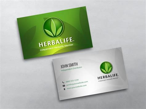 now card template herbalife business cards free shipping
