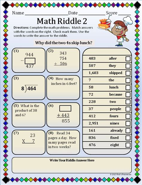 printable puzzles for 5 year olds math puzzles basic operations set 4 riddles the o jays