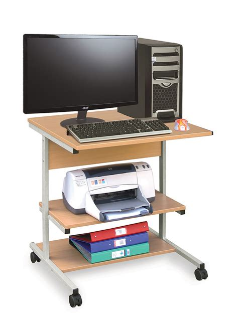 Computer Desk Trolley Small Mobile Computer Trolley Classroom Computer Trolley