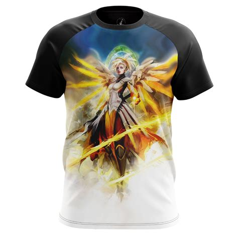 T Shirt Overwatch Azk t shirt mercy overwatch valkyrie suit characters