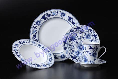 blue pattern porcelain china 16pc 20pc elegant blue pattern decal porcelain