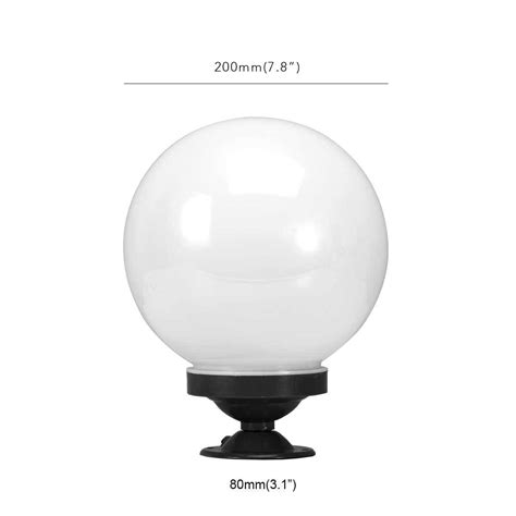 Outdoor Globe Light Fixture 20cm White Globe Outdoor Light Plastic Fixture L Pole Acrylic New Post Cad 13 38