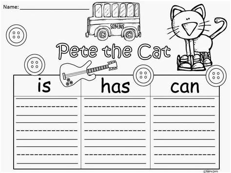 Pete The Cat Worksheets by Pete The Cat Printables Coloring Home