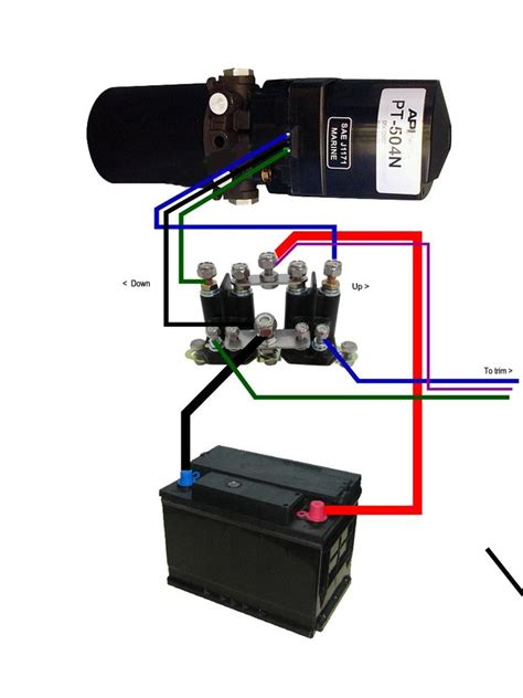mercruiser alpha one trim wiring diagram