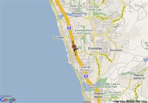 california map encinitas map of days inn encinitas near the encinitas