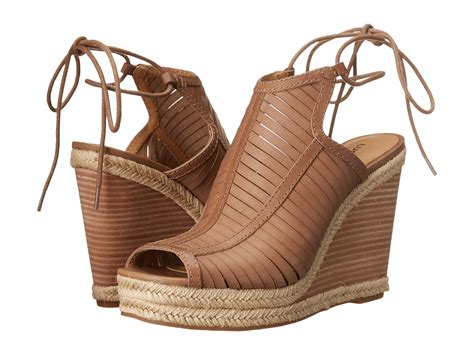 lucky shoes lucky brand laceey wedge in brown lyst