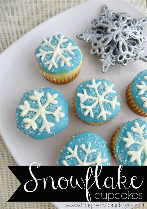 printable snowflake template for cupcakes fun and frosty snowflake cupcakes that are perfect for