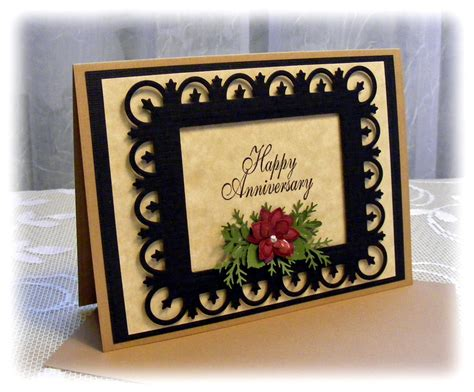handmade anniversary card with 3d by