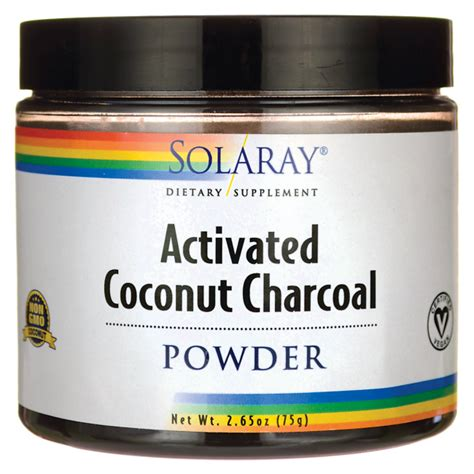 Activated Coco Charcoal Powder 50 Gram Solaray Activated Coconut Charcoal 2 65 Oz 75 Grams Pwdr