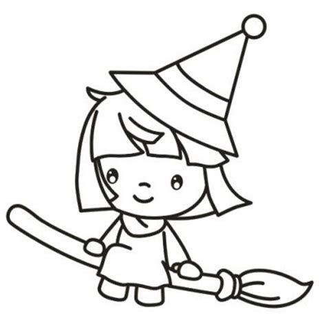 Cute Witch Coloring Page | witch coloring page