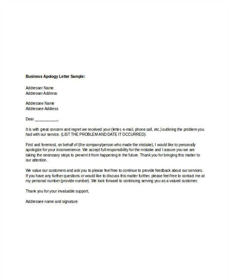 Apology Letter Format For Business Apology Letter Templates 15 Free Word Pdf Documents Free Premium Templates