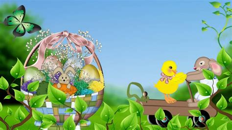 cartoon easter wallpaper happy easter images 9to5animations com