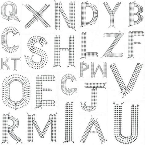 pattern crochet alphabet 50 best crochet letters and numbers images on pinterest
