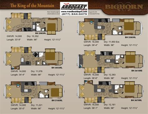 bighorn rv floor plans bighorn trailers floor plans meze blog
