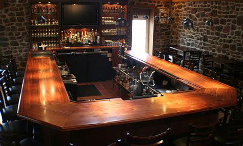 commercial bar top designs wood countertops mahogany wood bar top with drink rail