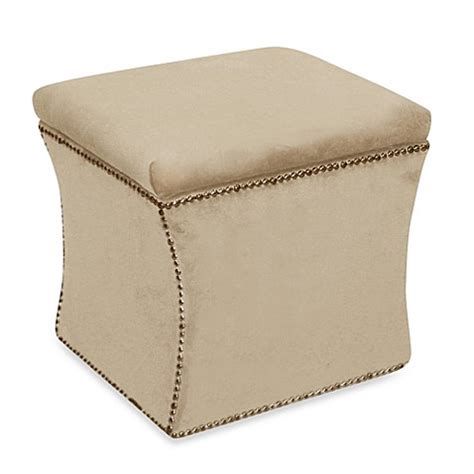 Buy Storage Ottoman Furniture From Bed Bath Beyond | buy skyline furniture nail button storage ottoman in