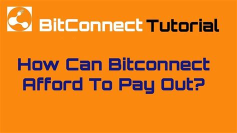 bitconnect payout how can bitconnect afford to pay out dr roy murphy